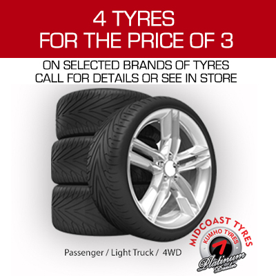 4 TYRES FOR PRICE OF 3